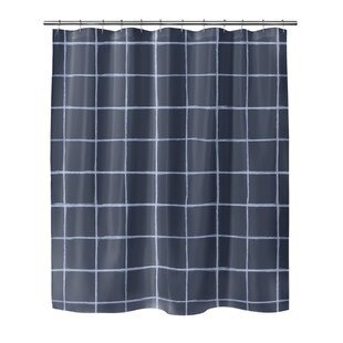 Leda Watercolor Check Single Shower Curtain