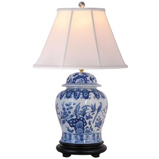 Compare Christophe 30 Blue/White Table Lamp By World Menagerie