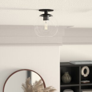 Yearwood 1-Light Semi Flush Mount by Mercury Row