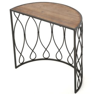 Gracie Oaks Clearfield Wood/Iron Accent End Table
