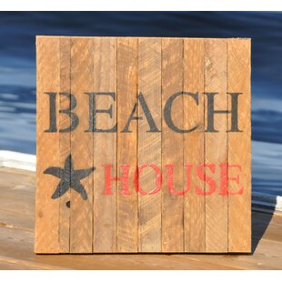 Beach House Garden Sign