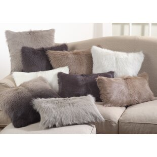 Oquinn Goat Fur Lumbar Pillow