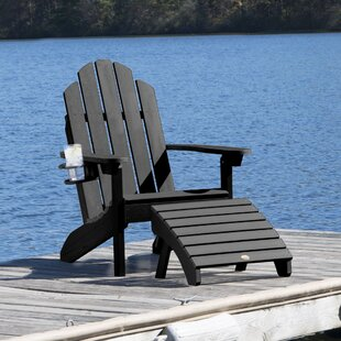 Highpoint Plastic Adirondack Chair with Ottoman