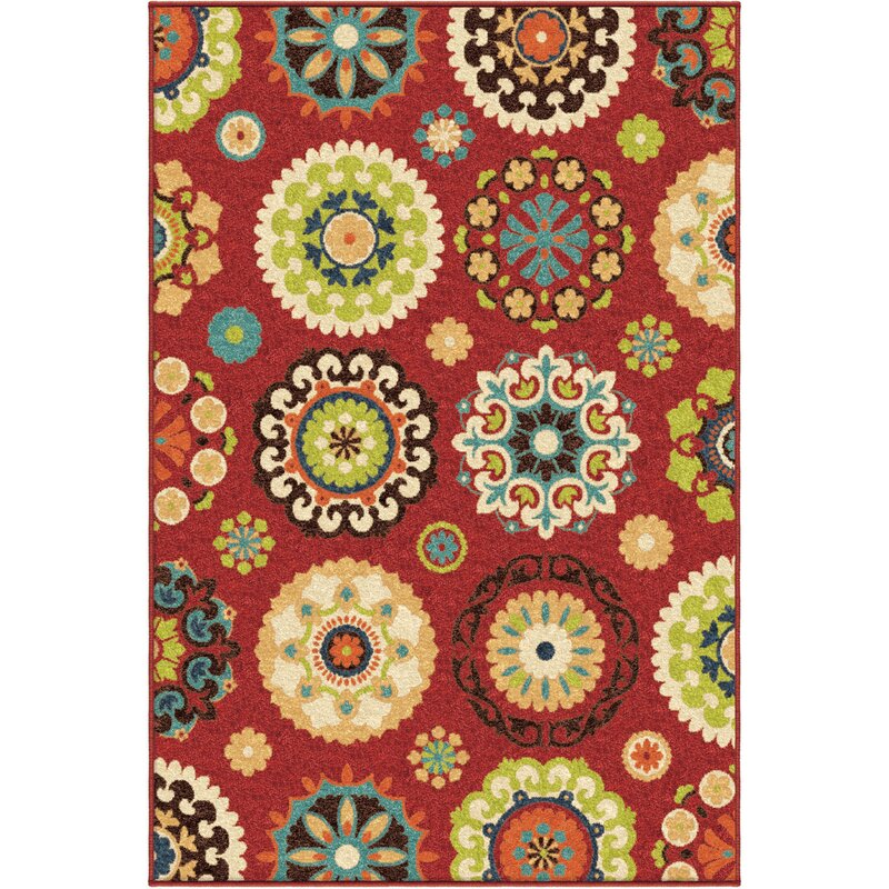 Andover Mills Gilmour Brick Red Indoor/Outdoor Area Rug & Reviews ...