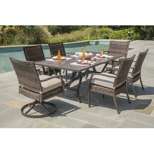 Bedard 7 Piece Dining Set with Umbrella Cushions by Darby Home Co