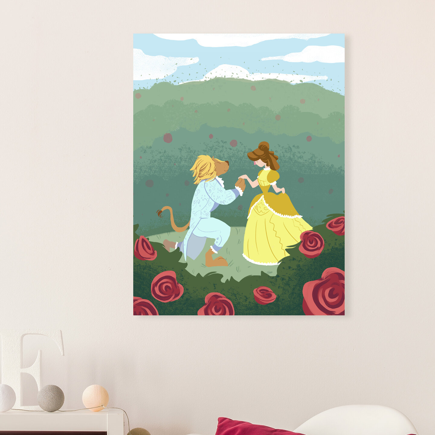 Ridgefield beauty and the beast canvas art