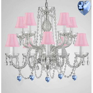 Rosdorf Park Baylon 10-Light Shaded Chandelier