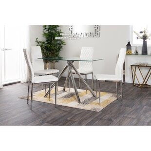 Jocelyn Dining Set With 4 Chairs By Mercury Row