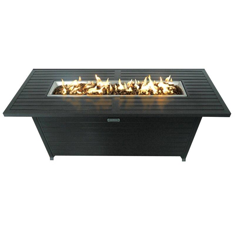 Aluminum Propane Fire Pit Table