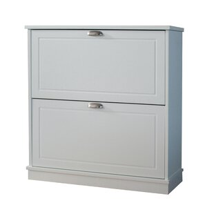 12 Pair Shoe Storage Cabinet With 2 Shelves