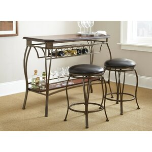 Greensboro 3 Piece Pub Table Set by Steve Silver Furniture