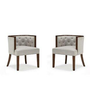 Doane Barrel Chair (Set of 2) by Gracie Oaks
