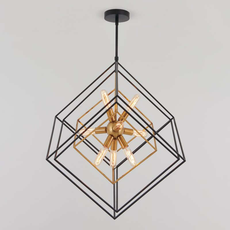Brayden Studio Alson 9 - Light Unique / Statement Geometric Chandelier