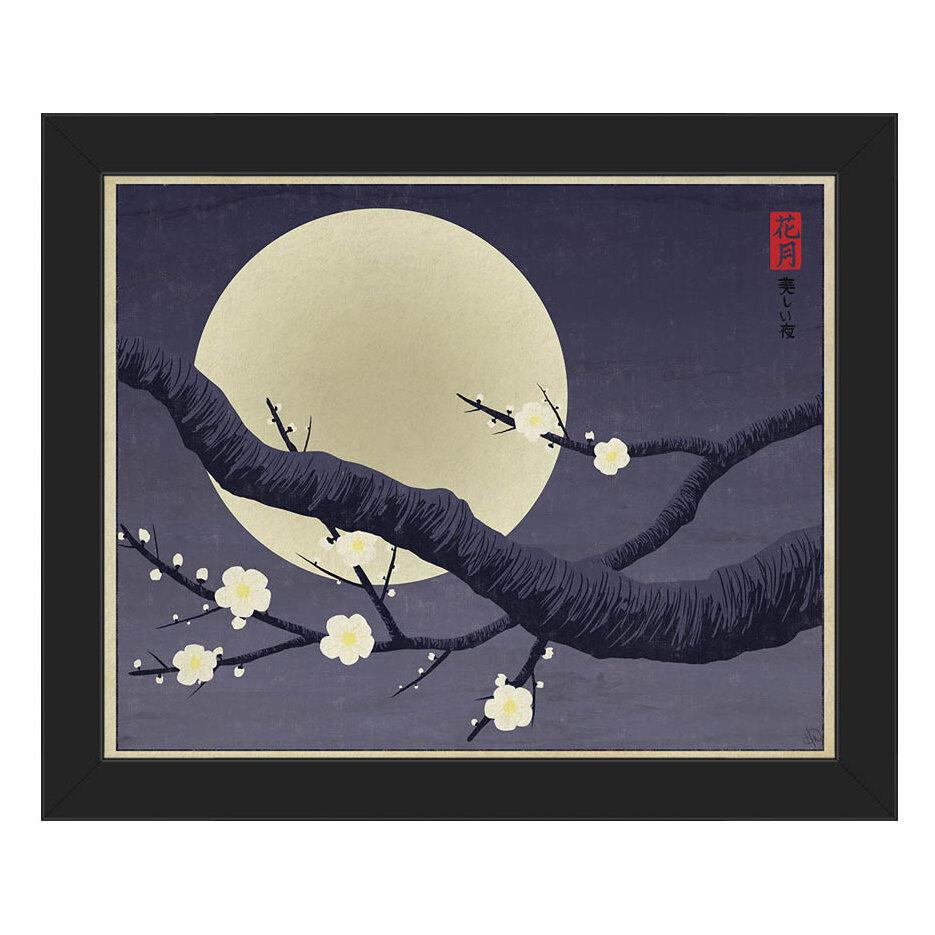 Click Wall Art Hanami Framed Graphic Art On Canvas In Blue Wayfair