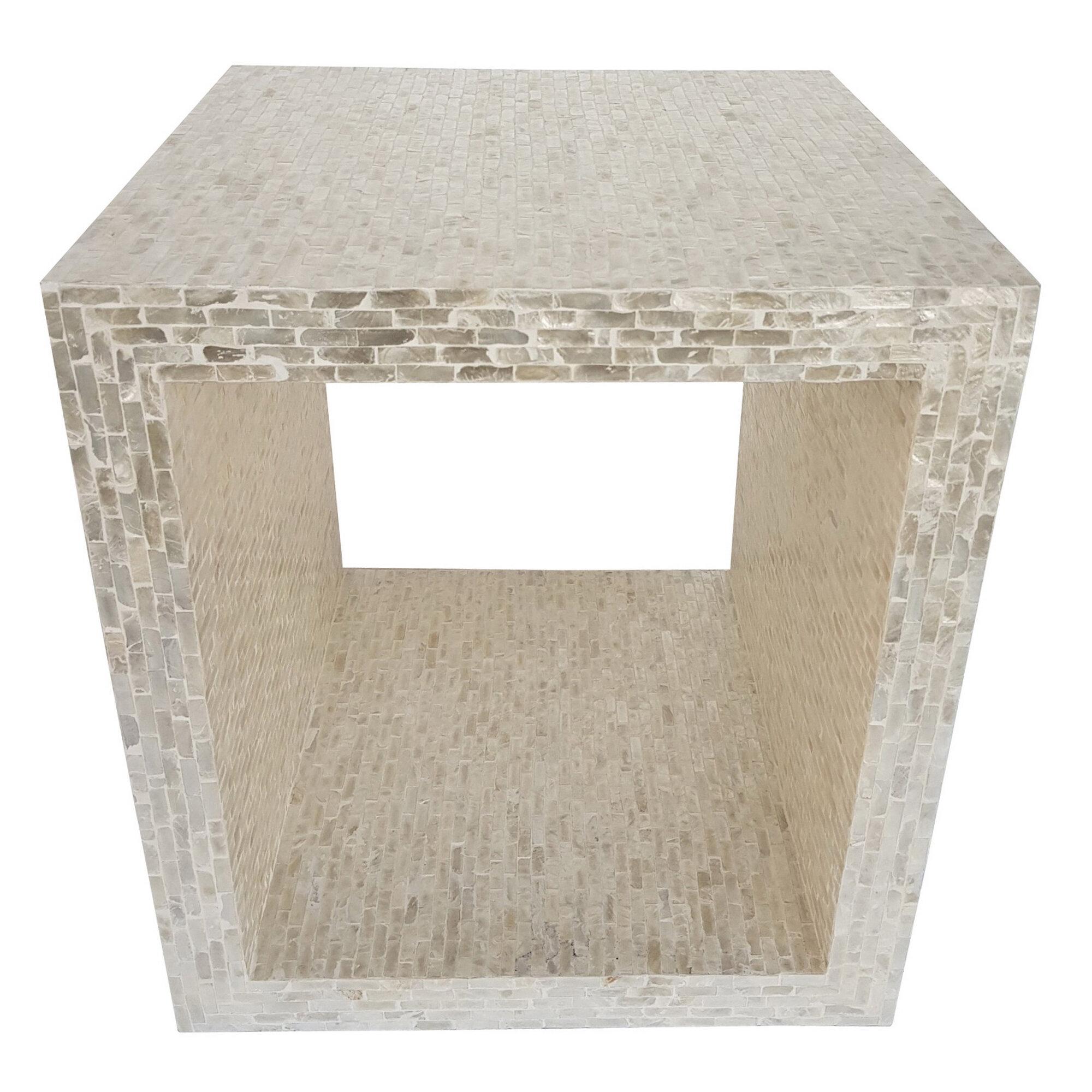 World Menagerie Lesse Floor Shelf End Table Wayfair