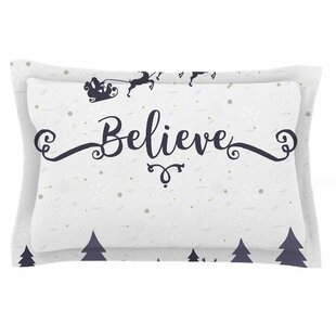 Famenxt 'Christmas Believe' Illustration Sham by East Urban Home Discount