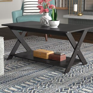 Spurgeon Modern Simplistic Criss-Crossed Coffee Table by Andover Mills