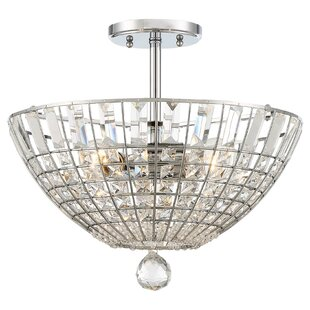 House of Hampton Needham Market 3-Light Semi Flush Mount