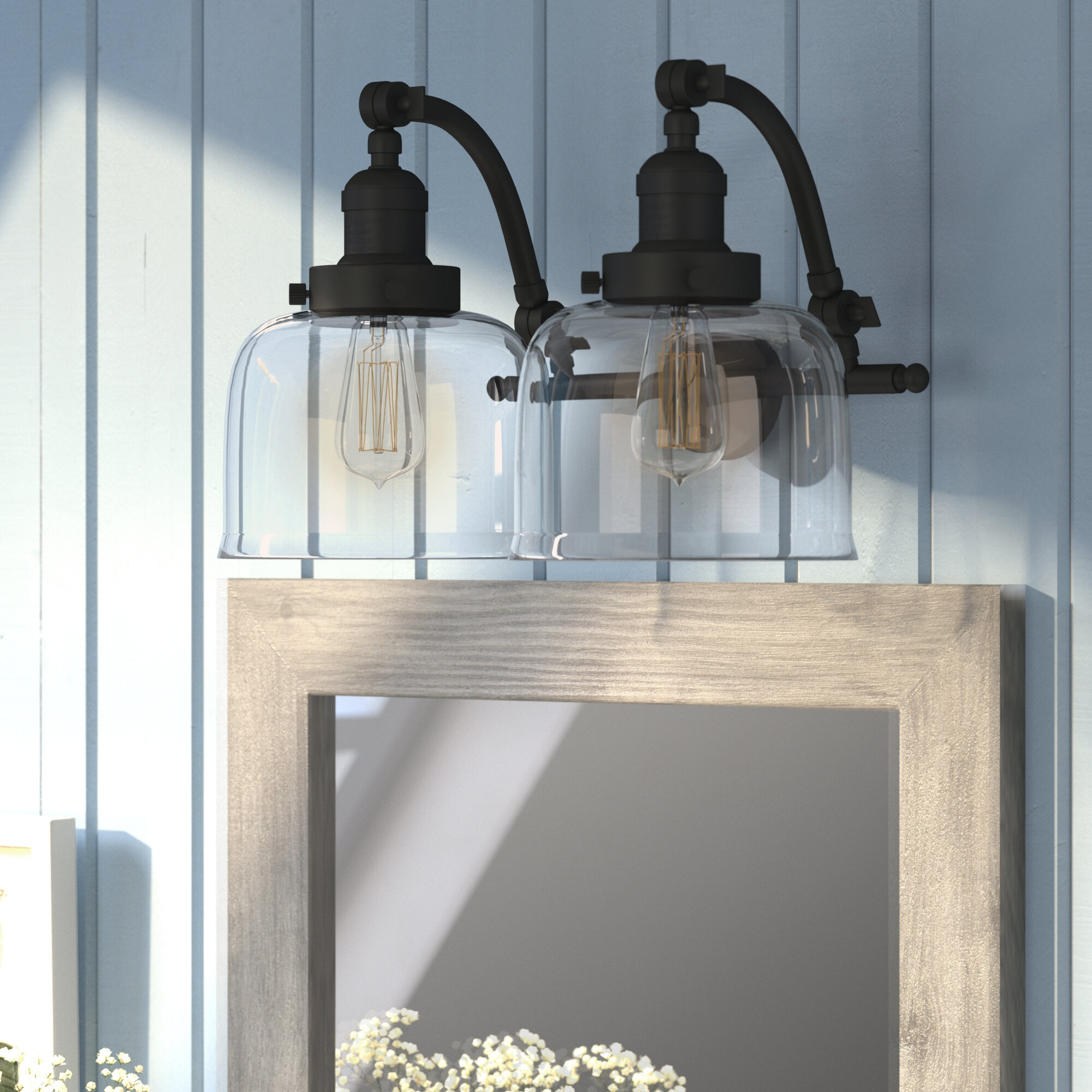 Williston Forge Burlingame 2 Light Dimmable Vanity Light Reviews Wayfair