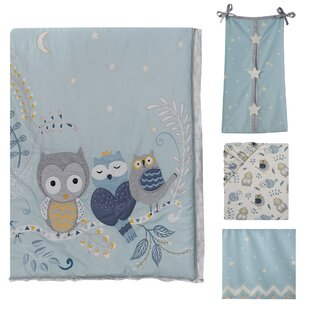 Online Reviews Night Owl 4 Piece Crib Bedding Set By Happi by Dena