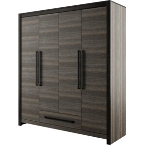 Dolloff 4 Doors 1 Drawer Armoire by Mercury Row