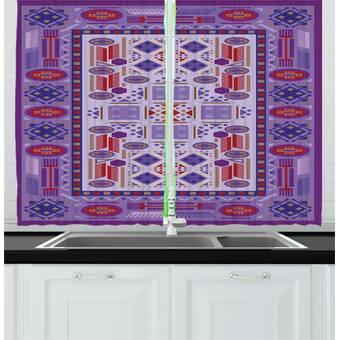East Urban Home 2 Piece Arcade Gaming Inspired Tile Set Platform 90 S Computer Games Coins Kitchen Curtain Set Wayfair