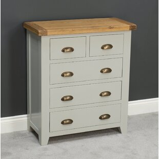 Longcroft Painted Oak 5 Drawer Chest By August Grove