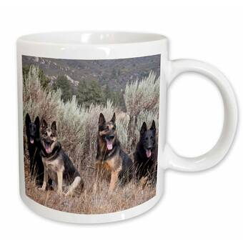 East Urban Home A German Shepherd Dog By Ery Zandria Muench Beraldo Coffee Mug Wayfair