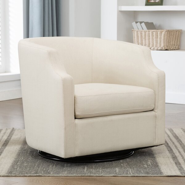 Three Posts Debbie Swivel Barrel Chair Reviews Wayfair