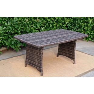 Rattan Pool Garden Rectangular Dining Table by Baner Garden Best Choices