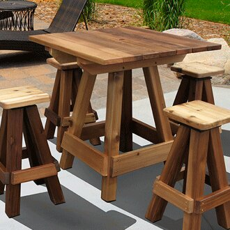 Solid Wood Bar Table
