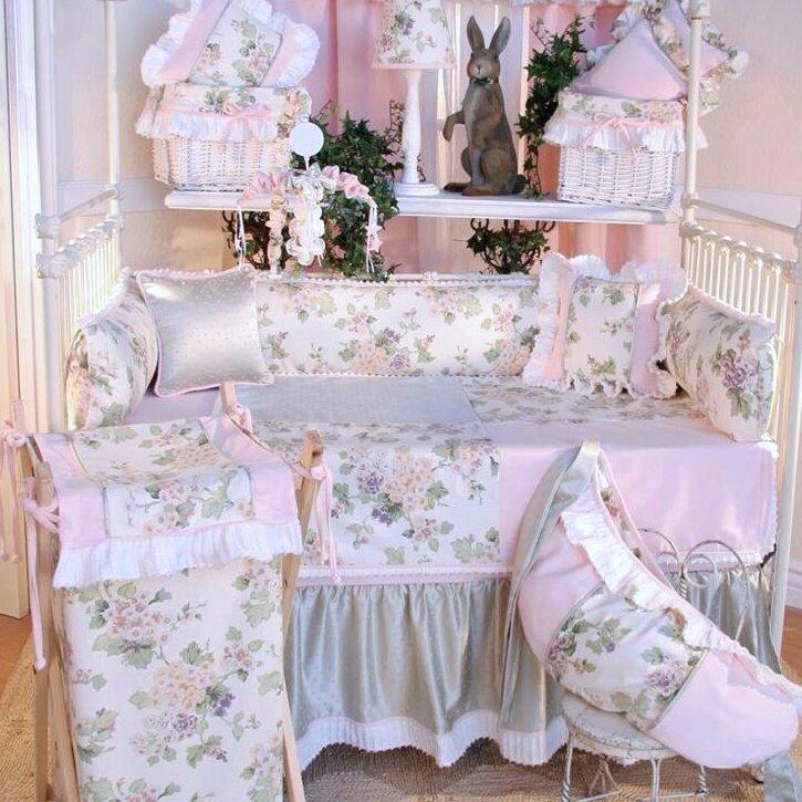 Flower Medley 4 Piece Crib Bedding Set