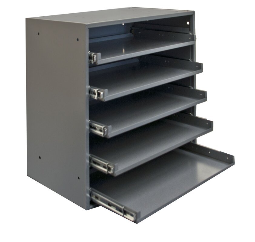Cold Rolled Steel Heavy Duty Triple Track Bearing Slide Rack