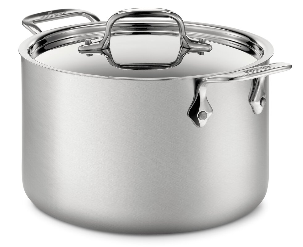 All-Clad d5 Brushed Stainless Steel 128 Oz. Soup Pot with Lid