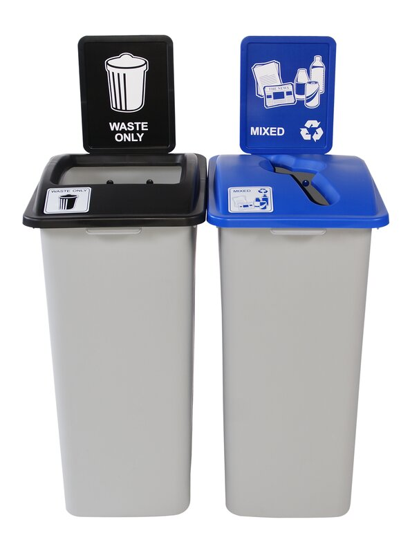 Waste Watcher Multi Compartments Plastic Recycling Bin