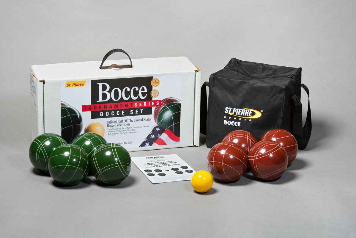 Tournament Bocce Game Set with Nylon Bag
