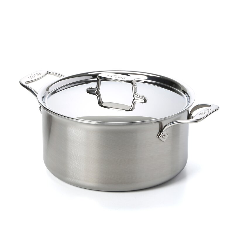 All-Clad d5 Brushed Stainless Steel Stock Pot with Lid