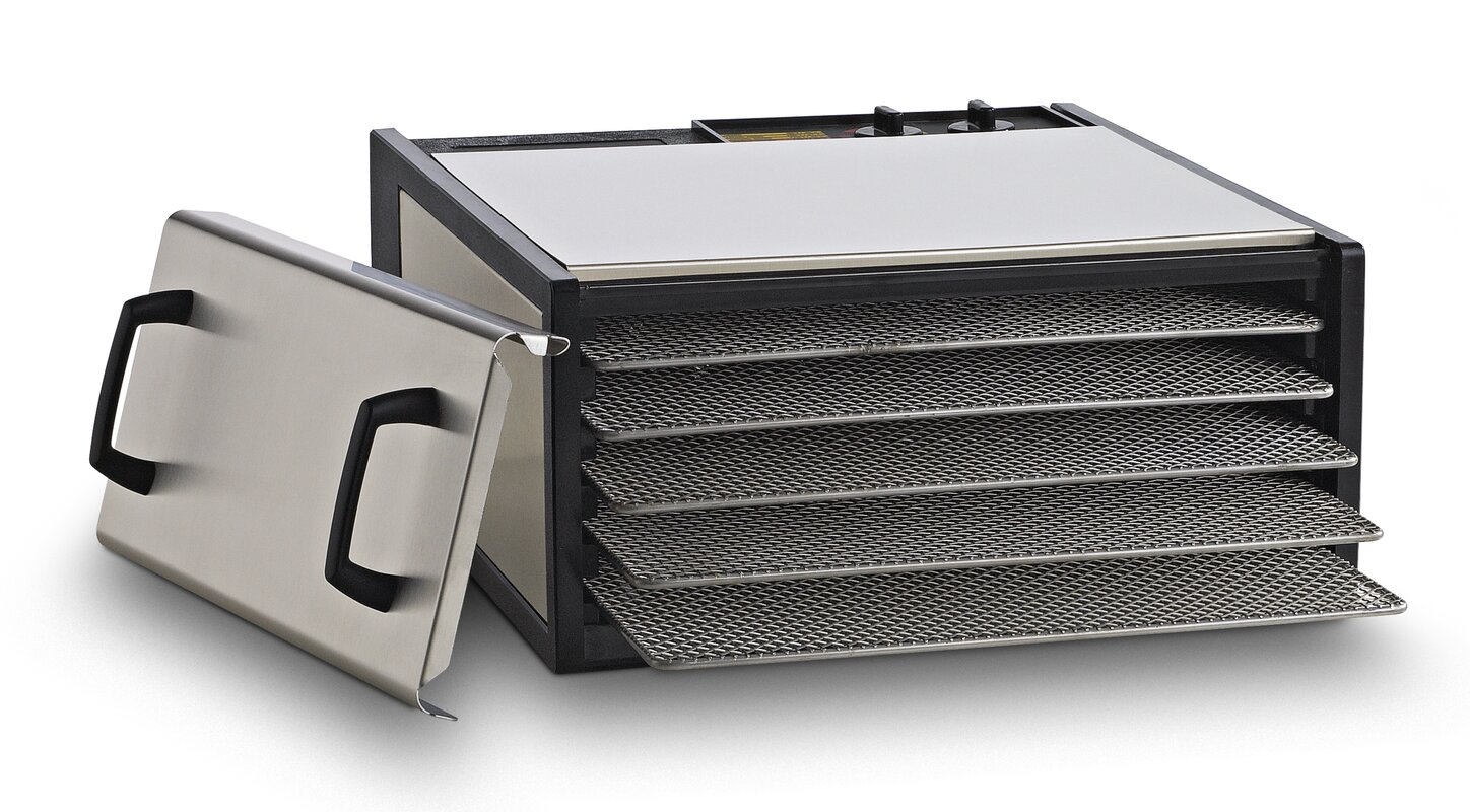Excalibur 5 Tray Dehydrator with Stainless Steel Trays