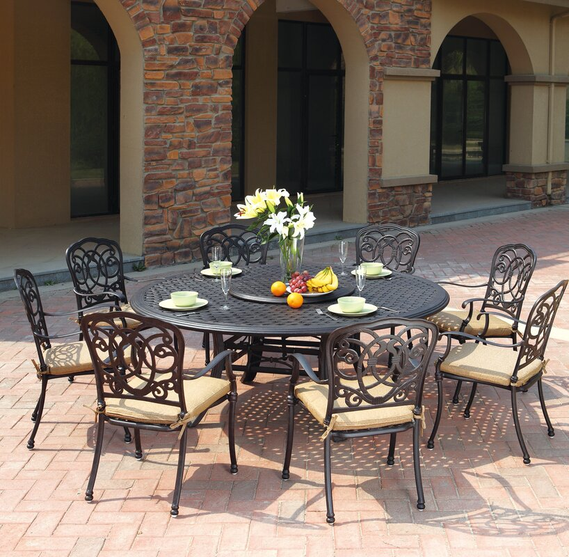 Dolby Traditional 10 Piece Dining Set with Cushions