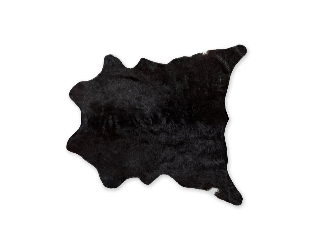 Hagerman Cowhide Black Area Rug