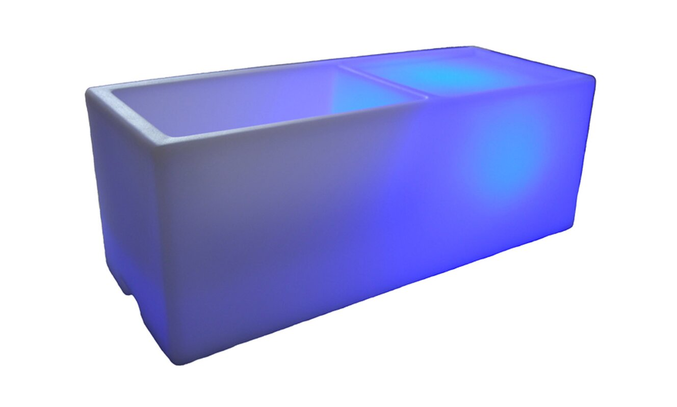 Wireless Illuminated Rectangular Ice Bucket