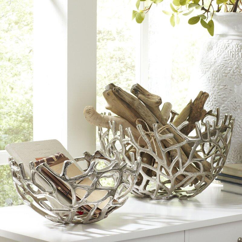 Kempler Coral Decorative Bowls (Set of 2)