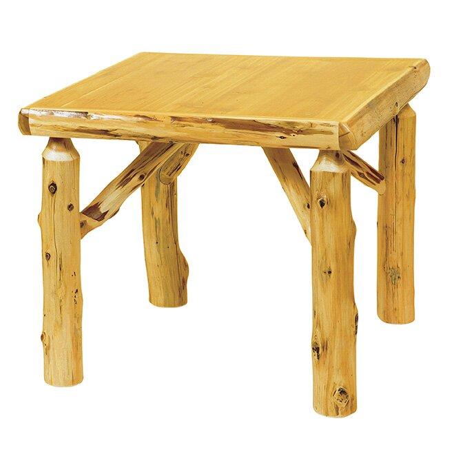 Traditional Cedar Log Cards Table