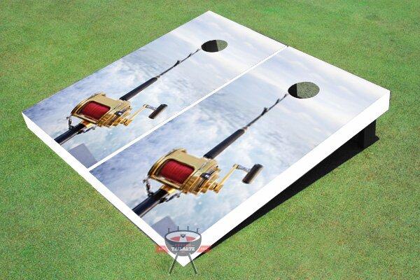 Fishing Rod Cornhole Board (Set of 2)