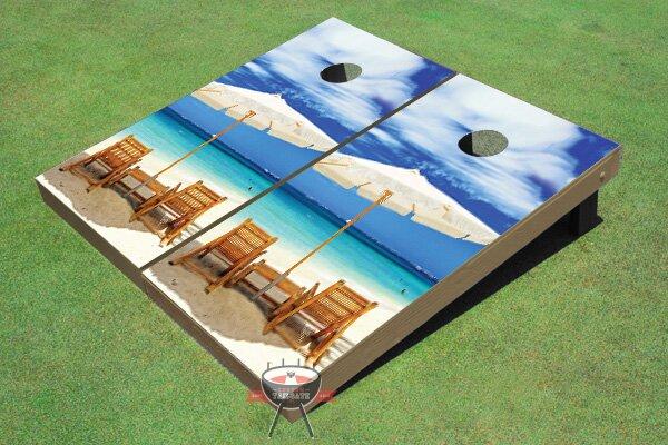 Wonderful Beach Cornhole Board (Set of 2)