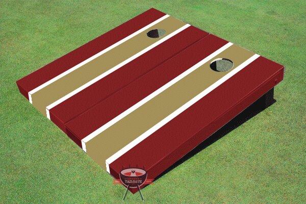Matching Long Stripe Cornhole Board (Set of 2)