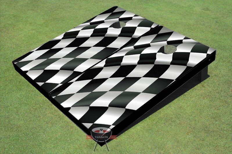 Checkered Flag Cornhole Board (Set of 2)