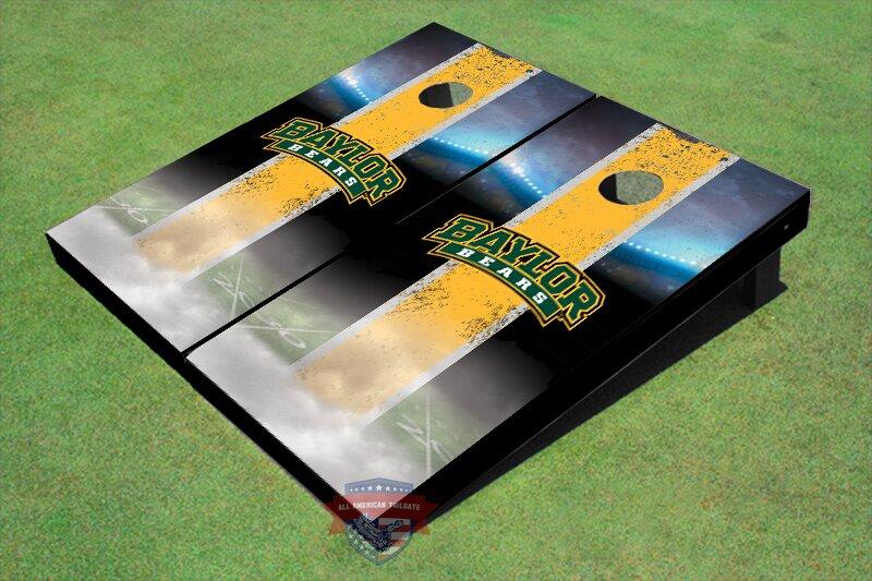 NCAA Field Long Strip Matching Cornhole Board (Set of 2)