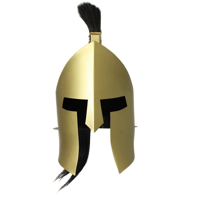 Antique Replica Armor Spartan King Plume Helmet