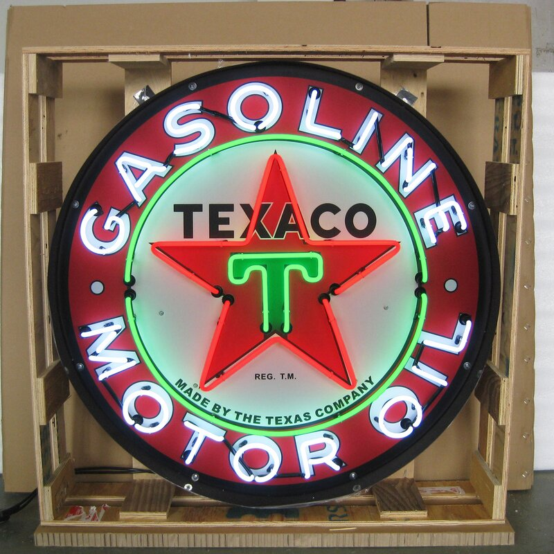 Texaco Motor Oil Neon Sign
